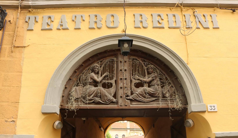 Lunetta sopra la porta di accesso - Ex Teatro Redini (A. Matteucci)