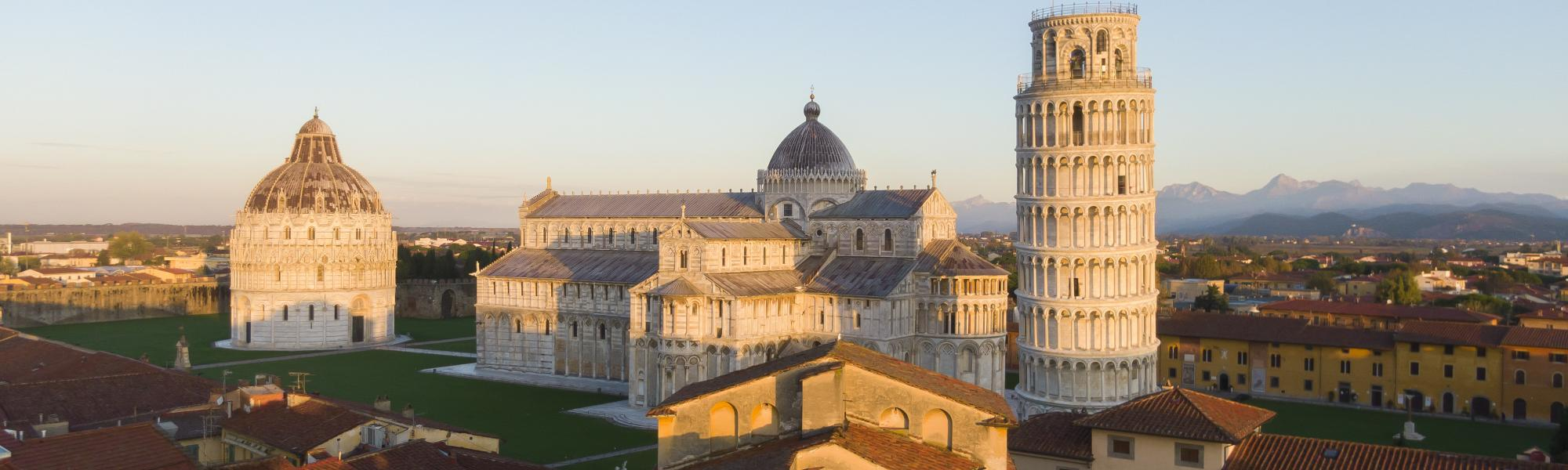 Veduta aerea Piazza del Duomo/ Piazza dei MIracoli