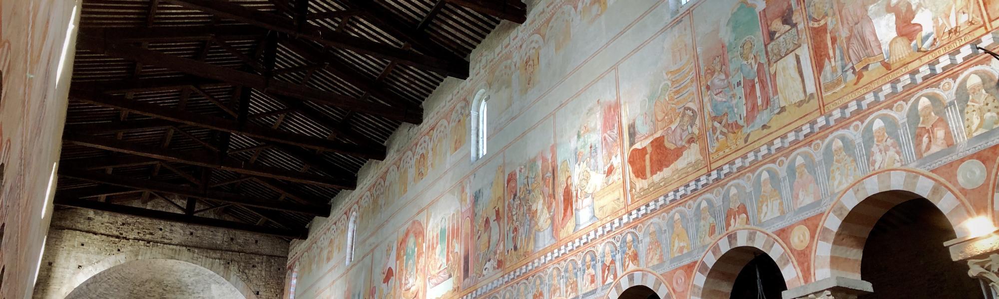 Decorazione navata ad affresco - Basilica di San Piero a Grado (G. Bettini, Comune di Pisa))