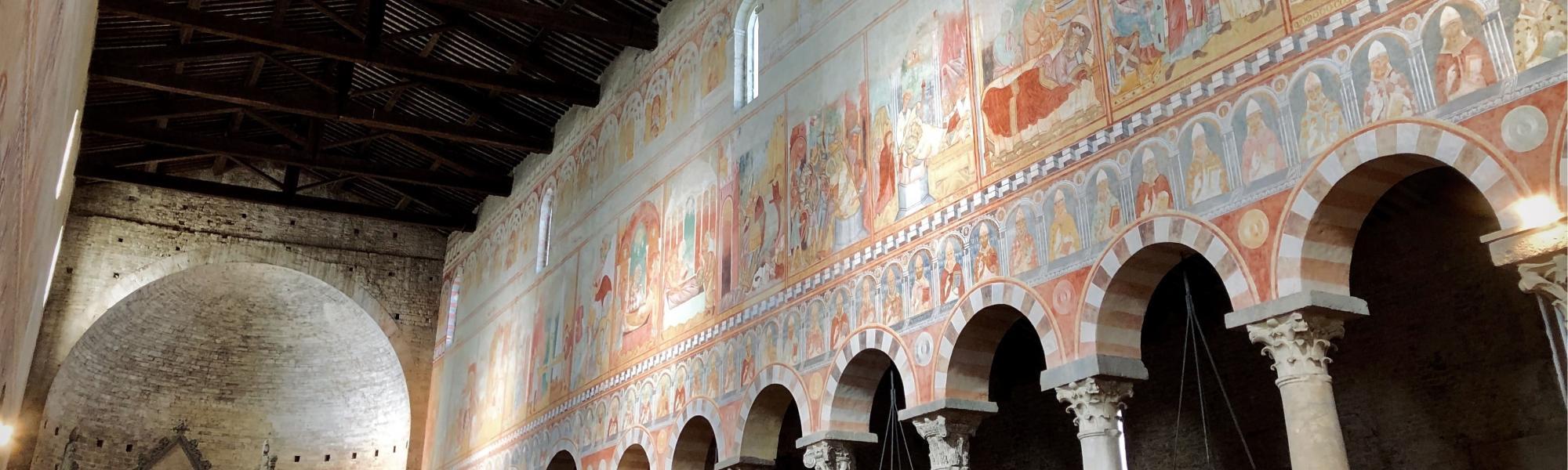 Decorazione navata ad affresco - Basilica di San Piero a Grado (G. Bettini, Comune di Pisa)