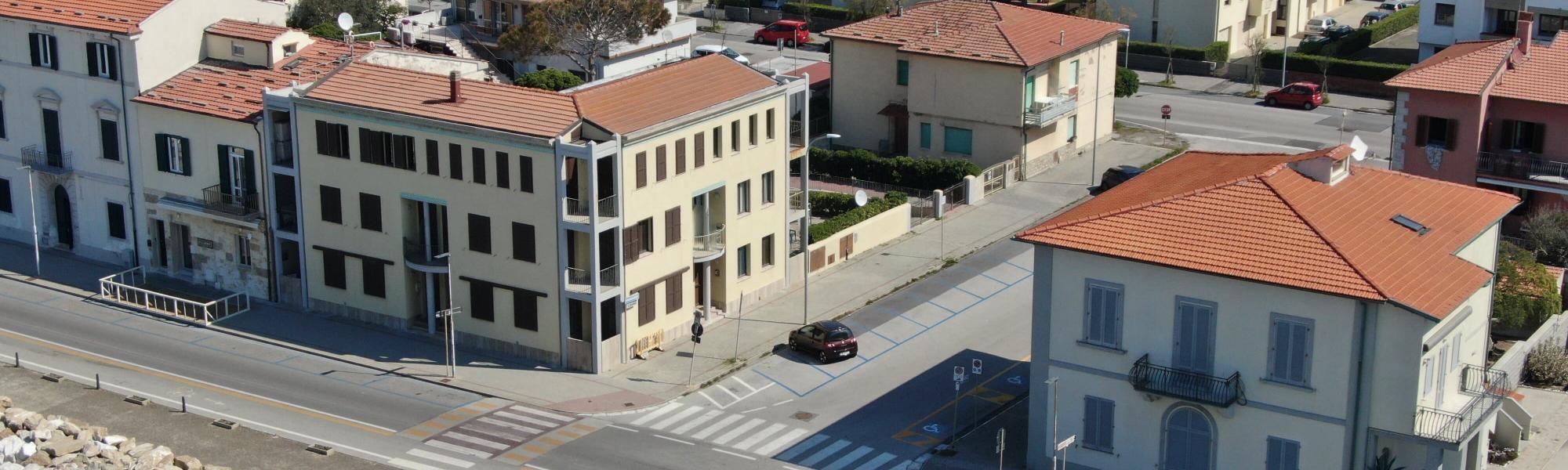 Veduta aerea abitato Marina di Pisa _ foto con drone (M. Boi, Comune di Pisa)