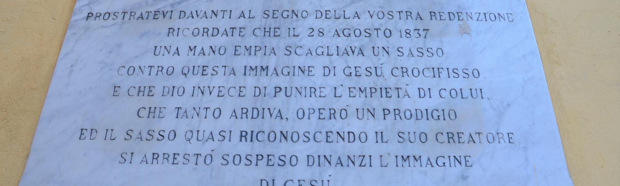 Il Crocifisso, piazza del Crocifisso (L. Corevi, Comune di Pisa)