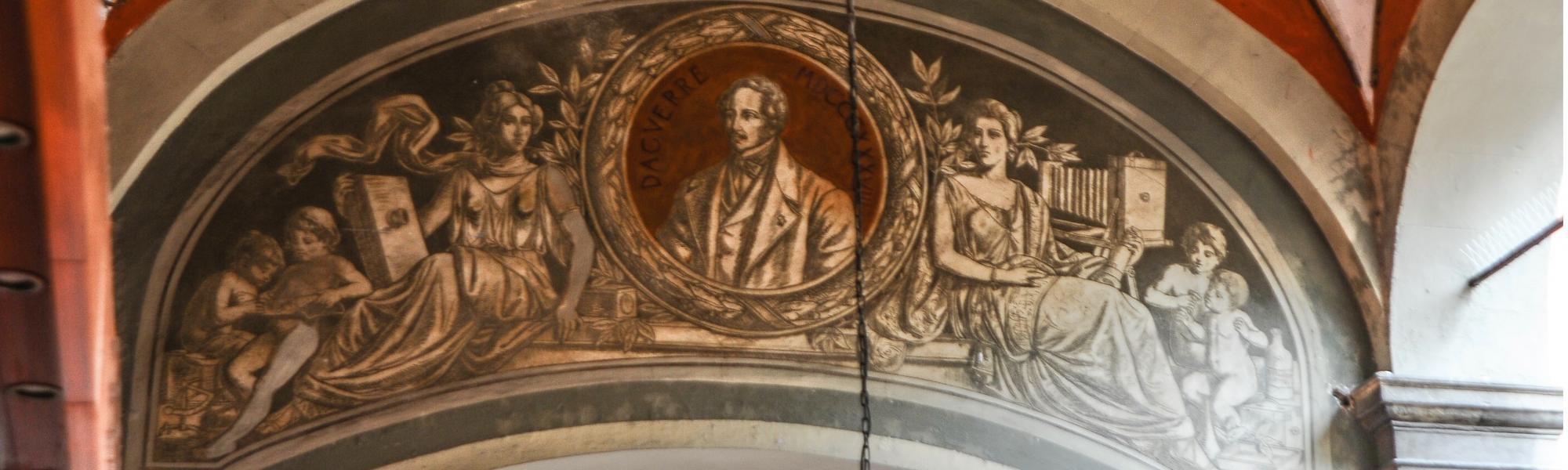 Affresco di Louis Jacques Mandé Daguerre (M. Pileri)