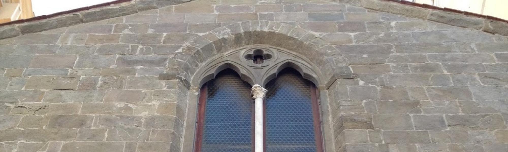 Particolare _ Bifora Chiesa di S. Domenico (R. Cardini)