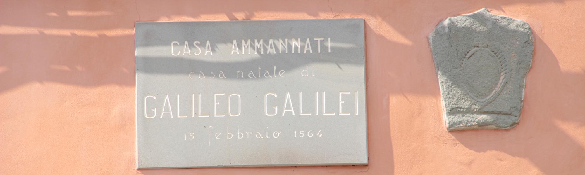 Particolare epigrafe - Casa natale di Galileo Galilei (G. Bettini, Comune di Pisa)