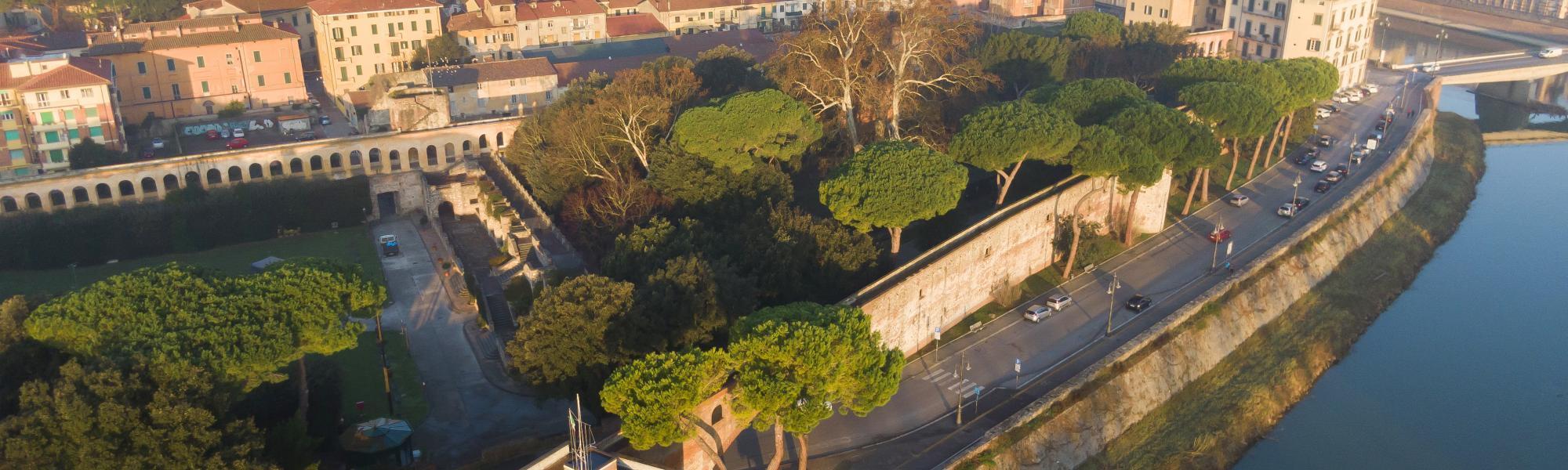 Veduta aerea Giardino Scotto_ foto con drone (F. Muzzi)
