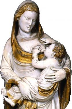 Madonna del Latte _ scultura in marmo, Andrea Pisano (Museo Nazionale di San Matteo)