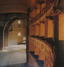 Particolare dei palchi e della scena - Teatro Rossi (A. Sobrero)