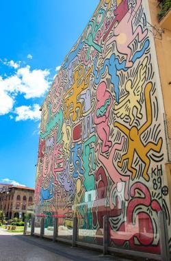 Murale di Keith Haring, Tuttomondo (G. Bettini, Comune di Pisa)