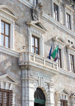 Particolari facciata - Palazzo Lanfreducci detto 'Alla Giornata' (G. Bettini, Comune di Pisa)