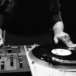 Dj Mixing Vinyl