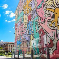 Murale Tuttomondo, Keith Haring (G. Bettini, Comune di PIsa)