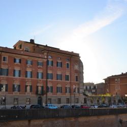Rovine di palazzo Chiesa sul lungarno Galilei (L. Corevi, Comune di Pisa)