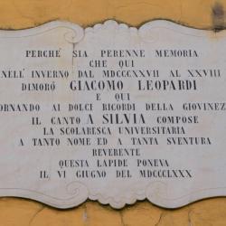 Targa Leopardi, via della Faggiola 19 (L. Corevi, Comune di Pisa)
